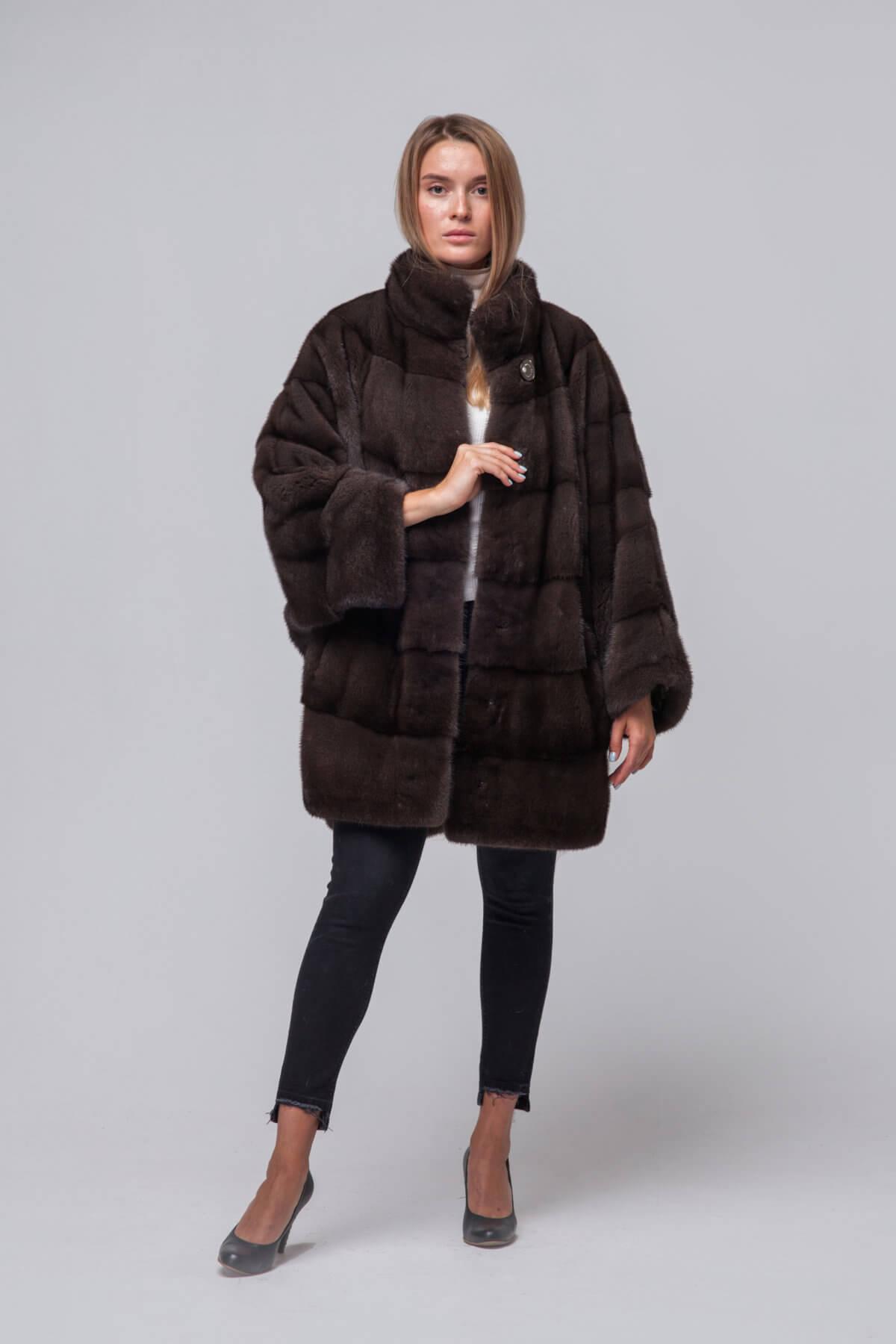 Пальто из европейской норки. Фото 1
