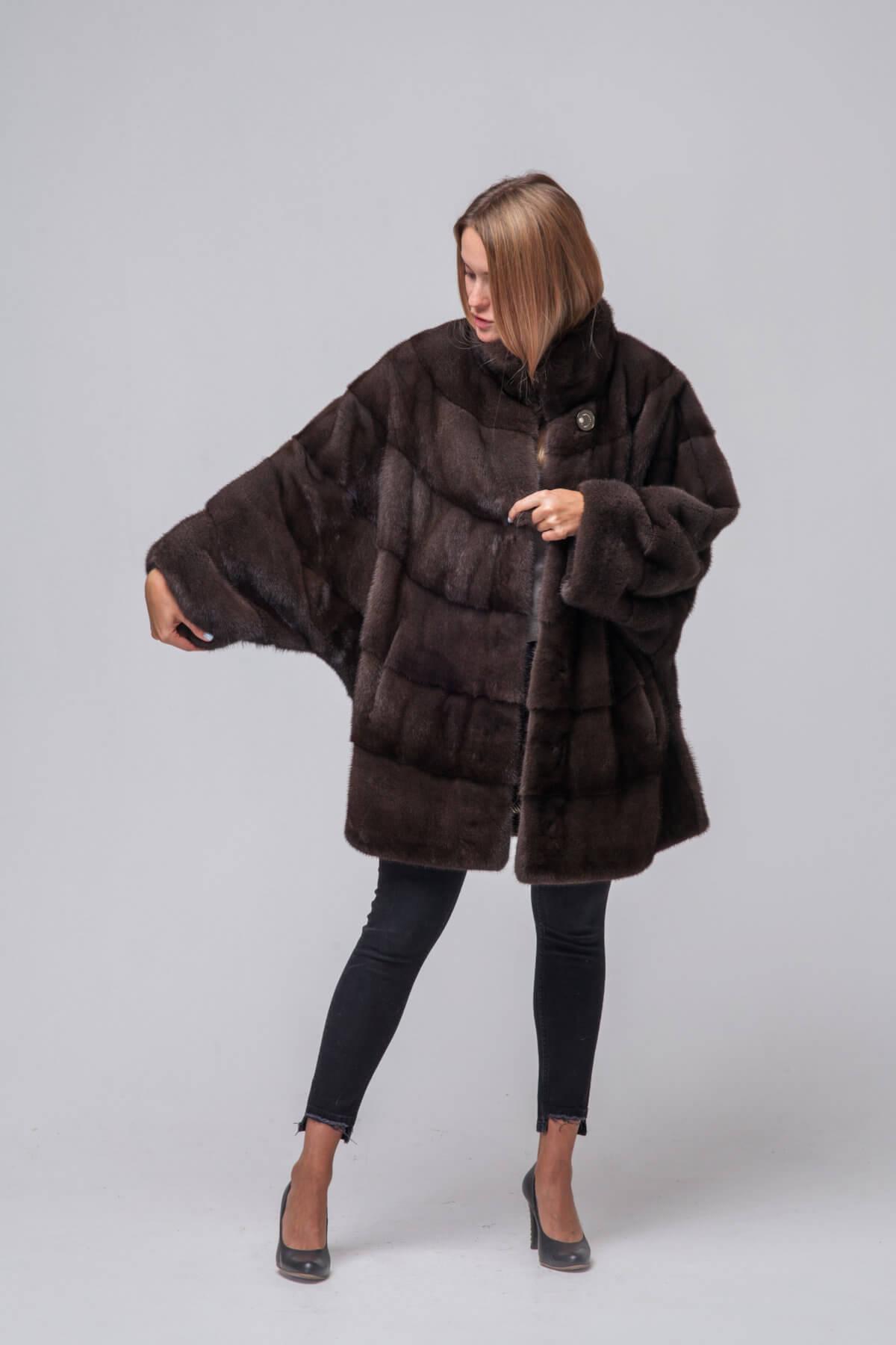 Пальто из европейской норки. Фото 4