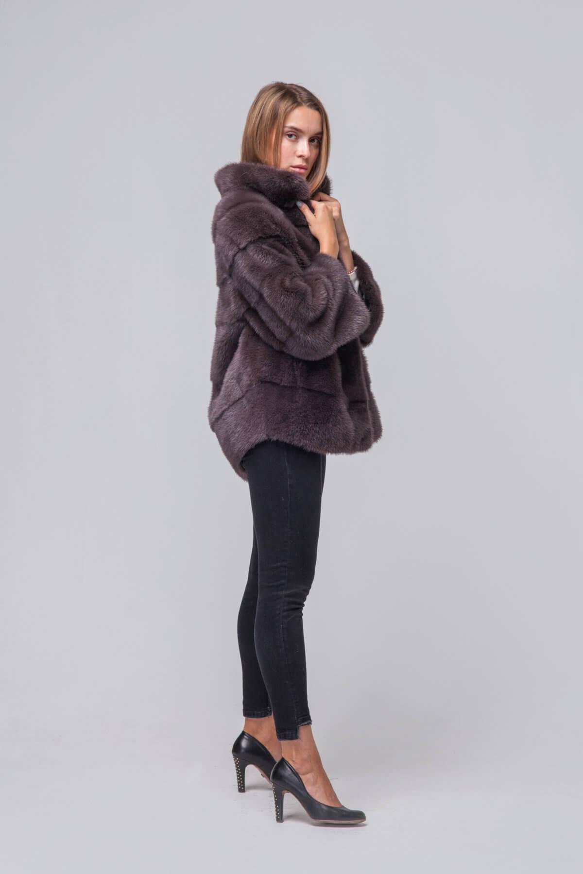 Пальто из скандинавской норки. Фото 3