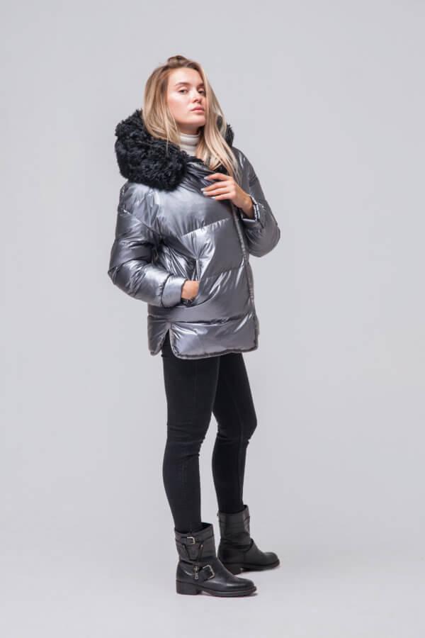 Утепленная куртка с мехом барашка. Фото 1