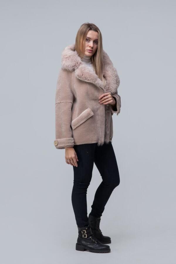 Куртка over size из шерсти с барашком. Фото 1