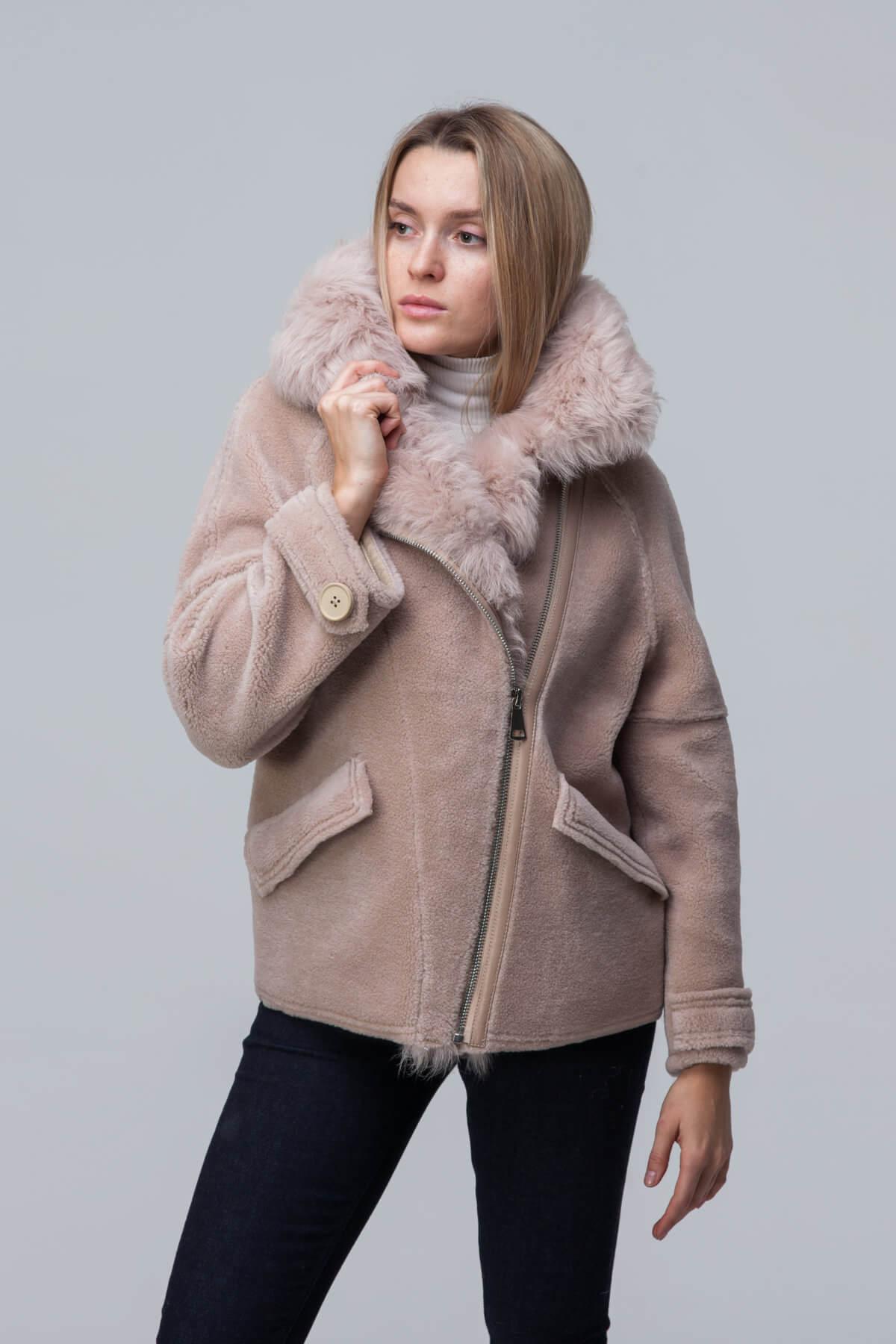 Куртка over size из шерсти с барашком. Фото 2