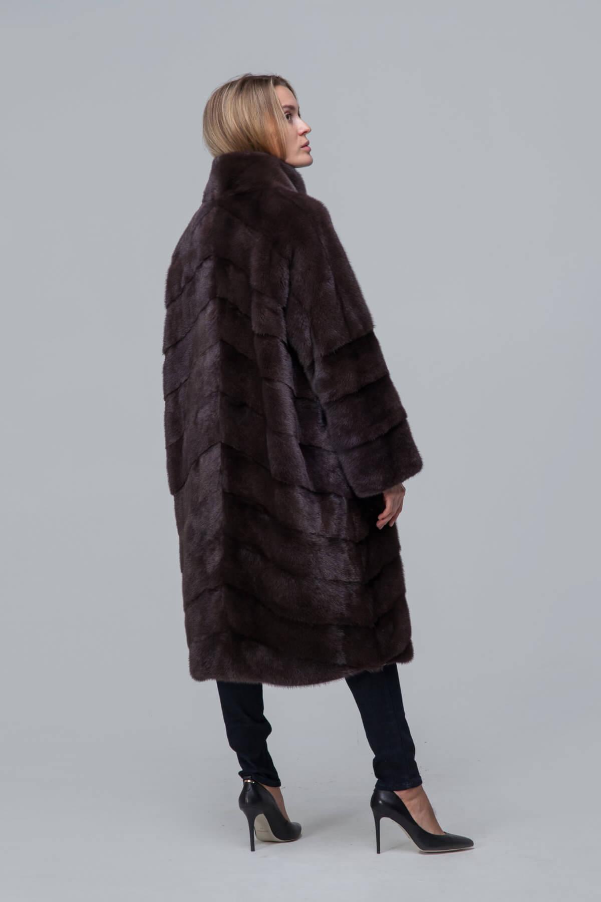 Пальто из норки со стойкой. Фото 4