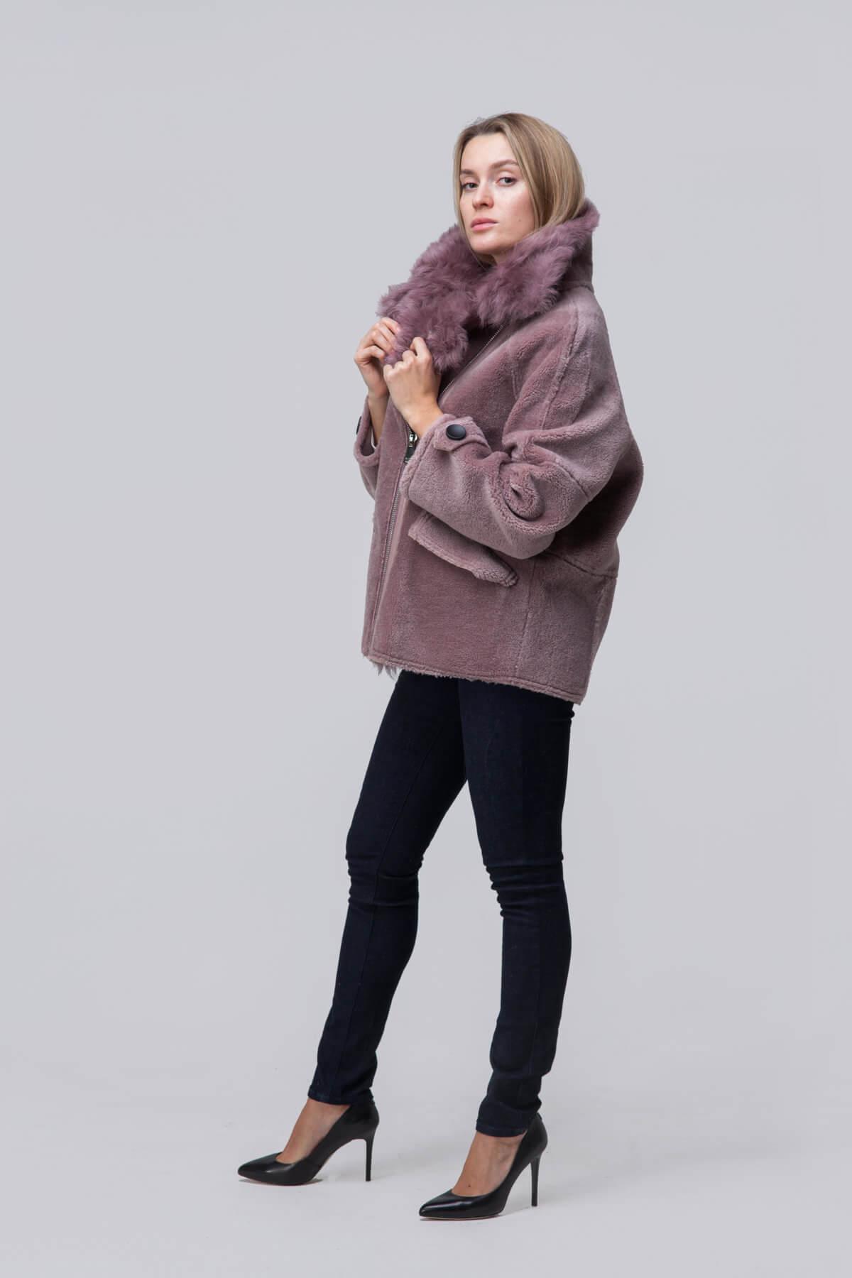 Куртка over size из шерсти с барашком. Фото 4