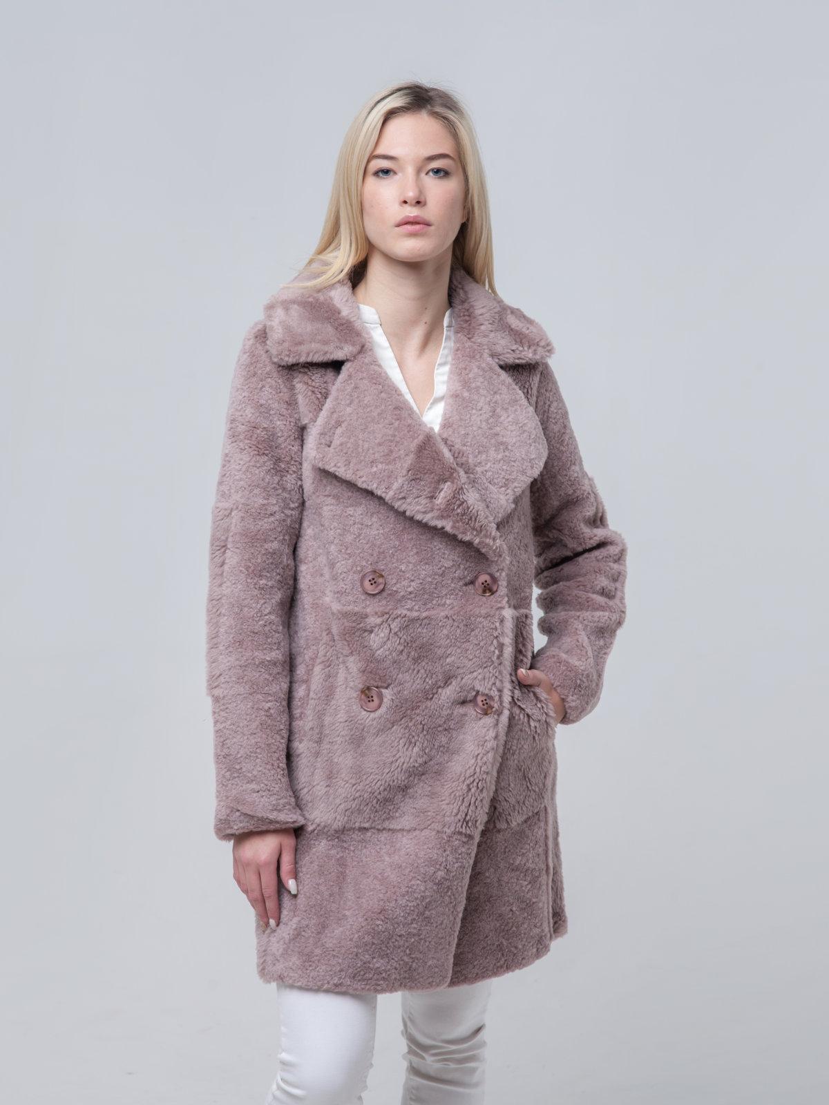 Удлиненное шерстяное пальто
