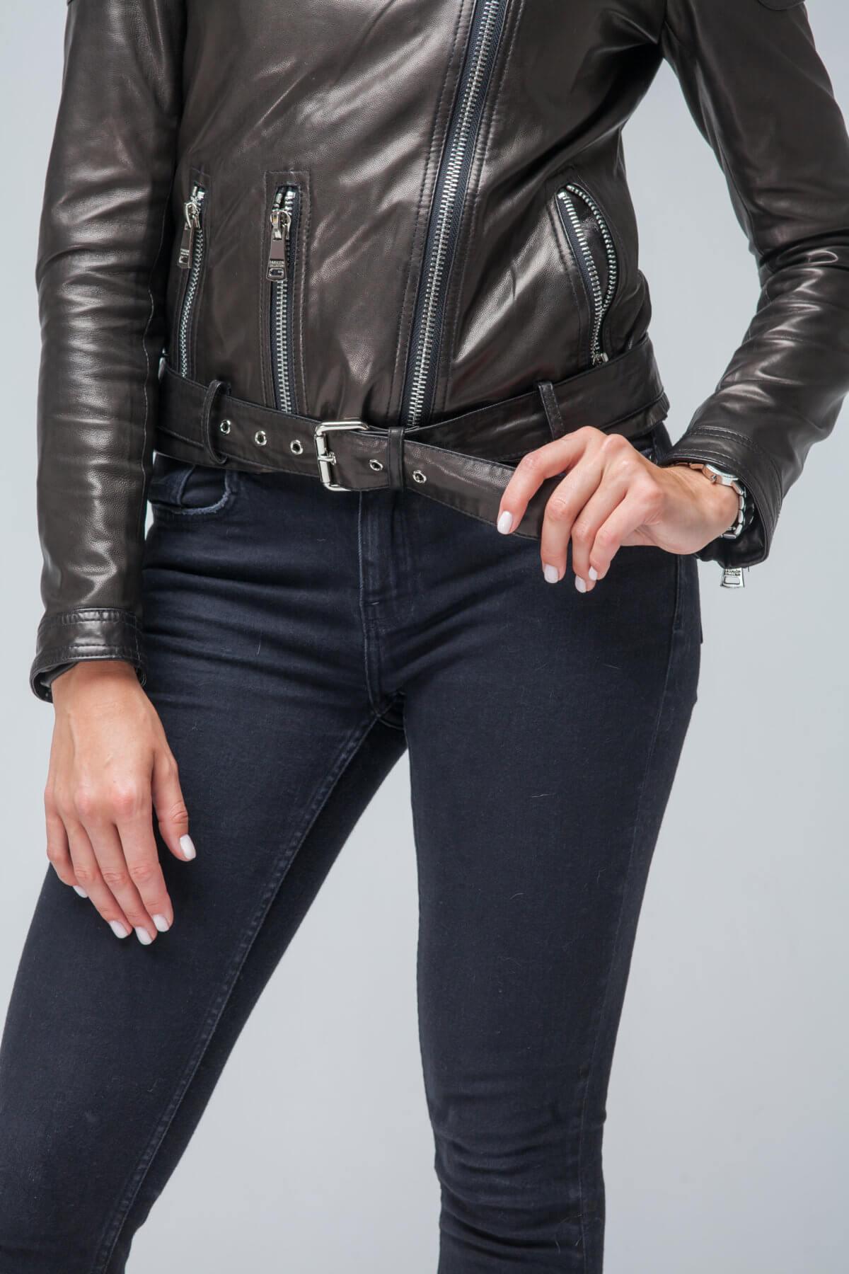Кожаная куртка-косуха черная. Фото 5
