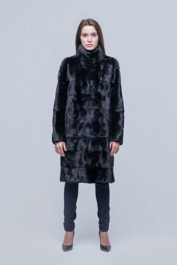 Пальто-трансформер из скандинавской норки
