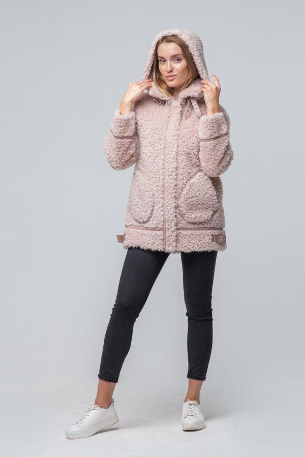 Укороченное шерстяное пальто