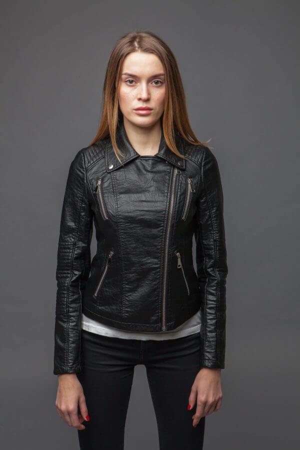 Куртка с асимметричной молнией. Фото 2
