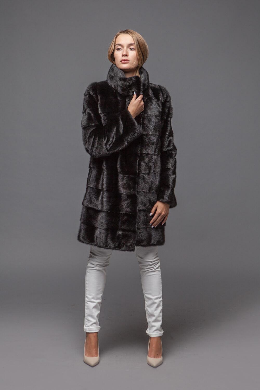Норковая шуба «Прада» Black. Фото 1